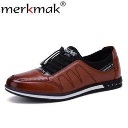 mens summer lace casual shoes Australia - Merkmak Autumn Casual Men Shoes Breathable Comfortable Mesh Mens Shoes Fashion Low Lace-up Canvas Flats Zapatillas Hombre