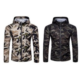 0f5dd4ac081 Tactical Jacket Men Waterproof Coat Men Slim Camouflage Jacket Casual  Hooded Long Sleeve Zipper Coat M-XXL
