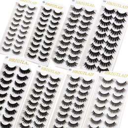 $enCountryForm.capitalKeyWord Australia - NEW 10 pairs Handmade 3d mink lashes short False Eyelashes Cross Messy Dense Natural Eye Lashes Stage Makeup False Eyelashes