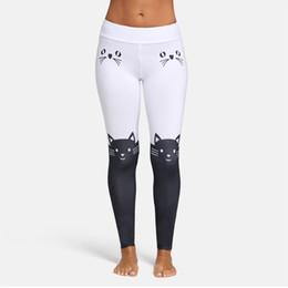 leopard print yoga pants 2019 - New Arrival Fashion Cute Women Leggings Yoga Sport Mid Waist Cat Print Color Block Skinny Pants Yoga Pants #840160 cheap