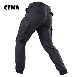 Vente en gros IX9 Men City Tactical Pants Pantalons cargo multi-poches Couleur verte Combat Coton Pantalon SWAT Army Pantalon simple