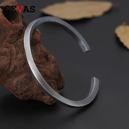 Discount solid sterling silver bangle bracelets - Vintage Real Solid 925 Sterling Silver Mobius Cuff Bangles For Women Men Twisted Type Thai silver bracelets Fashion Jewe