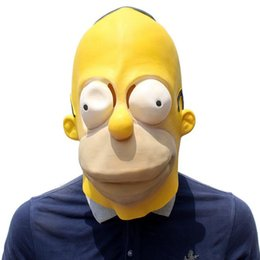 $enCountryForm.capitalKeyWord Australia - New Simpson Mask Cartoon Cute Masks Performance Halloween Headgear Latex Film Cosplay Game Funny Party Supplies for Festival Halloween props