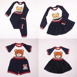 Style for Shirt pant online shopping - Kids Clothing Sets For Girl Boy Summer Bear Shirt Pants Skirt Children Outfits Toddler Baby Clothes Set T