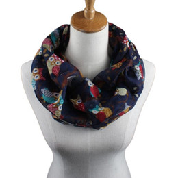$enCountryForm.capitalKeyWord Australia - Fashion Women Scarf Luxurious Wrap Shawl Ladies Owl Pattern Print Scarves Winter Warm Wraps Hijab Ring Neck Scarfs Echarpe