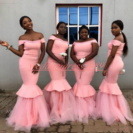 7a8b68e9f Junior wedding guest dresses online shopping - Elegant African Mermaid  Bridesmaid Dresses Tiered Juniors Maid Of