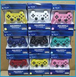 28d3f80a4272d Yüksek kaliteli Kontrolörleri Kablosuz Denetleyici Oyun Kontrolörleri PS3  için taşınabilir Video oyun palyer Çift Şok Oyun Konsolu DHLFREE