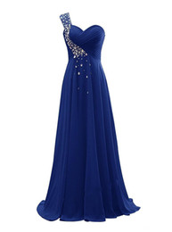 Size 22w Royal Blue Evening Gown UK - Beaded One Shoulder Evening Dresses 2019 Floor Length Evening Gowns Lace Up Party Dress Purple Royal Blue