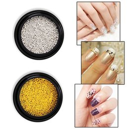 $enCountryForm.capitalKeyWord Australia - 1 Pot Rose Gold Silver Metal Nail Art Caviar Beads Solid Shiny Steel Micro Balls 3d Manicure UV Gel Polish DIY Decorations New