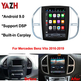 "gps for mercedes Australia - 12.1"" IPS Android 9.0 GPS navigation Multimedia For Mercedes-Benz Vito 2016 2017 2018 2019 Car DVD DSP Auto Radio"