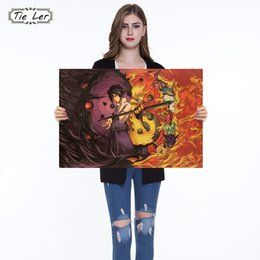 Cartoon Wall Paper Stickers Australia - Naruto Poster Classic Anime Cartoon Kraft Paper Poster Painting Wall Stickers Home Decorative 51.5X36cm