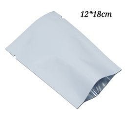 heat seal food bags Australia - 100Pcs white vacuum open top packing bags food grade heat seal mylar package bags gifts and toys pack bags pouch with tear notch