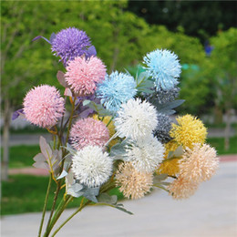 "$enCountryForm.capitalKeyWord Australia - Fake Short Stem Onion Ball (3 heads piece) 25.59"" Length Simulation Plastic Dandelion for Wedding Home Decorative Artificial Flowers"