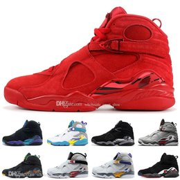 $enCountryForm.capitalKeyWord UK - Free Shipping 2019 8 8s Valentines Day Red Basketball Shoes Aqua Chrome Countdown Pack Mens Athletics Sneakers Size7-13