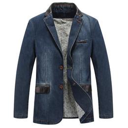$enCountryForm.capitalKeyWord NZ - Nice Pop Mens Fashion Denim Jacket Casual Long 000% Cotton Male Jeans Coat Autumn Spring High Quality Windbreakers M-4xl