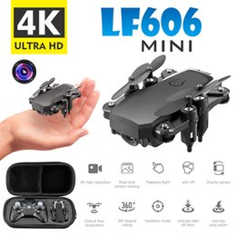 Discount camera ready - 2020 Aerial Photo Mini LF606 Wifi FPV RC Drone 0.3M Camera Foldable and Portable Design Intelligent Toy Gravity Sensitiv