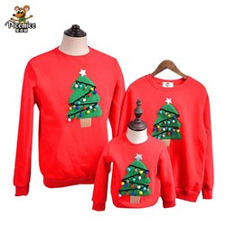 6c36497f Family Matching Outfits 2019 Winter Christmas Sweater Christmas Tree Children  Clothing Kid Shirt Polar Fleece Warm Family Clothe J190517