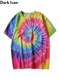 tie dyed tee NZ - wholesale Paisley Tie Dye T-shirt Men 2019 Summer Round Neck Hiphop Tshirts Cotton Casual Tee Shirts