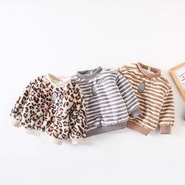 $enCountryForm.capitalKeyWord UK - Winter Christmas T-shirt Baby Girl Hoodie Sweatshirt for Girls Tshirt Pullover Plus Velvet Fleece Thick Leopard print clothing
