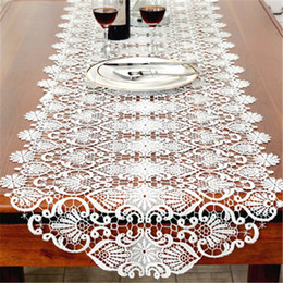 table tablecloths Australia - runner white 2018 new cotton Runner White embroidered tea lace table cloth cover towel home Christmas tablecloth placemat Wedding decor