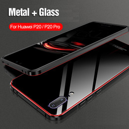 $enCountryForm.capitalKeyWord Australia - For Huawei P20 Pro Case Protective Bumper Metal Plating Cell Phone Case For Huawei P20 Back Tempered Glass High Quality Luxury