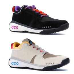 Mountain woMen online shopping - Brand New ACG Dog Mountain Designer Shoes Black White Beige Running Shoes Men Women Sport Sneakers Size