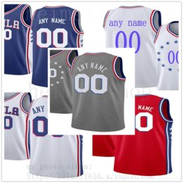 36421ede424 Soccer jerSeyS nameS numberS online shopping - Custom Printed  MensPhiladelphia76ersJerseys Top Quality Red Blue White New