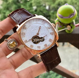 Discount automatic men watch china - All work LEATHER BELT Rose gold 40MM CASE cheap CHINA mechanical automatic men watch wholesale fashion new Stainless ste
