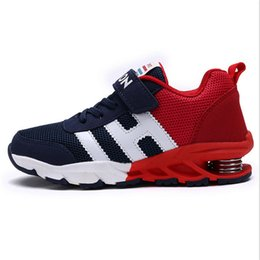 New Design Boy Kids Shoe Australia - New Design Children Sports Shoes Boys Girls Spring Damping Outsole Slip Patchwork Breathable Kids Sneakers Child Running Shoes Y19051303