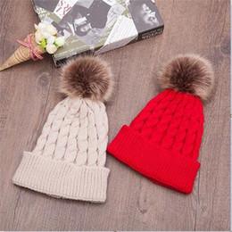 Fallen Hats Australia - Fall winter KOREAN cute wool knitted hat hemp pattern solid color warm head earmuffs warm hat tide D0017