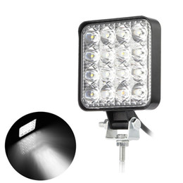 Lamp for tractor online shopping - 48W Inches Square LED Flood Light Offroad Driving Work Lamp Auxiliary Fog Lights for Jeep Car Truck Tractor Motorcycle Boat