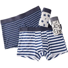 slips boxer NZ - Men Underwear Printed Sexy Male Panties Short Fashion Striped Cueca Boxer Homme Modal Slip Boxershorts L-5xl 4pcs lot Q190517