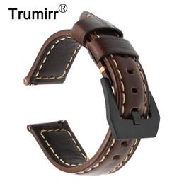 $enCountryForm.capitalKeyWord Australia - Italian Vintage Genuine Leather Watchband 22mm For Samsung Gear S3 Galaxy Watch 46mm Quick Release Band Steel Buckle Wrist Strap T190620