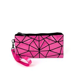 Watermelon Cosmetic Bags Cases UK - New Fashion PVC Cosmetic Bag Stone Geometric Women Make Up Bag Casual Travel Makeup Case Beauty Bag Organizer Toiletry Kit Pouch