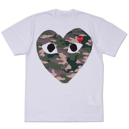 $enCountryForm.capitalKeyWord Australia - Mens designers t shirt commes cotton dess garconss tee CDGplay print love off red camo white T-shirts Summer clothes vetements