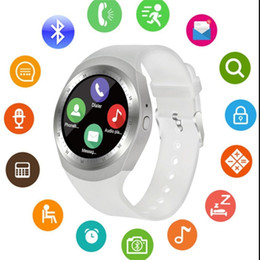 Bluetooth Smart Watch Sim Australia - Y1 Bluetooth Smart Watch Relogio Android SmartWatch Phone Call GSM Sim Remote Camera Information Display Sports Pedometer