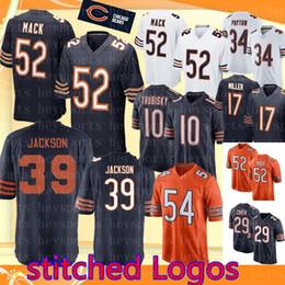 52 khalil Mack Chicago Bears jersey Mens 39 Eddie Jackson 54 Brian Urlacher  58 Roquan Smith 34 Walter Payton 12 Allen Robinson II jerseys f0917d9d2