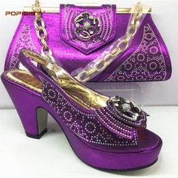 Purple Wedding Shoes For Women Australia - Purple Shoe And Bag To Match Italian African Wedding Shoe And Bag Sets Women Shoe And Bag To Match For Parties African Shoes