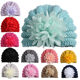 Curly hair baby girl online shopping - Baby Girls Hats with Curly Chiffon Flower Adorable Cap for Infant Toddler and Kids