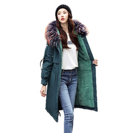 Discount fashion liner - Ladies High End Office Jacket Fashion Faux Fur Collar Hooded Solid Thick Coat 2019 New Winter Women Wool Liner Warm Casu