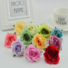 Wedding vase floWering online shopping - 10pcs silk plastic roses for wedding home vase Decoration bridal accessories diy Wreaths Gifts cheap artificial stamen flowers