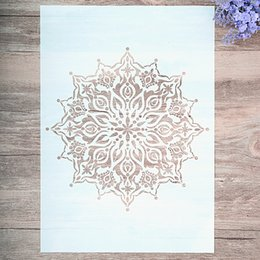 cartoon stamping Australia - A4 A3 A2 Size DIY Craft Layering Mandala Stencil For Wall Painting Scrapbooking Stamping Album Decorative Embossing Paper Card