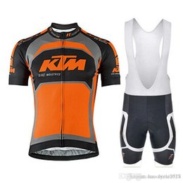 Ktm Clothes Australia - Ktm 2018 New Summer Short Sleeve Cycling Jerseys Wear Bib Shorts Set Mtb Bike Ropa Ciclismo Hot Sale Breathable Bicycle Cycling Clothing