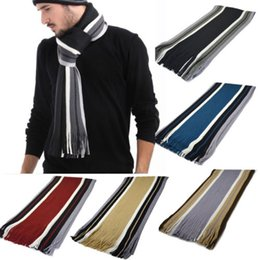 $enCountryForm.capitalKeyWord Australia - Classic Cashmere Shawl Winter Warm Mens Fringe Striped Tassel Wrap Long Scarf 2018 New Fashion Stripe Scarf