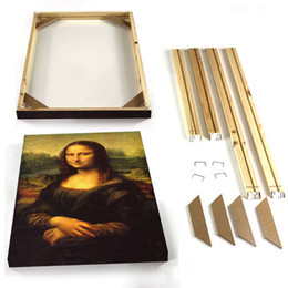 wholesale wooden picture frames Australia - Home Picture Frames Wall Photo Frame Wood Poster Frame DIY Wooden Canvas For Painting Oil Wall Art Cadre Photo Photoframe