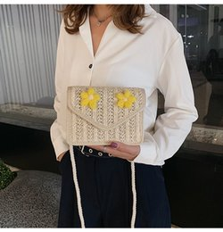 Fairy Style Dresses UK - Lucky2019 Summer Woman Bag Fairy On Vacation Wind Straw Plaited Article Package Messenger Ins Joker Flower Western Style Packet Tide