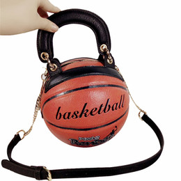 Funny cartoon bags online shopping - Fashion Basketball Shape Bags For Women Messenger Bag Women s Bag Luxury Handbags Women Bags Round Creative Funny High Quality Y19051802
