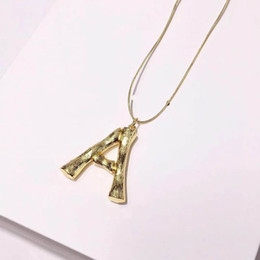 $enCountryForm.capitalKeyWord Australia - 2019 new fashion luxury love gold letters Necklace Decorate Pendant Necklaces Display Frame Stand Show For Women Wholesale