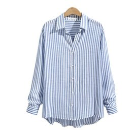 $enCountryForm.capitalKeyWord Australia - 2017 New Autumn Women Tops Long Sleeve Casual Striped Blouse Female V-neck Work Wear Solid Color White Office Shirts For Women