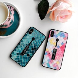 Anti Wind Glasses Australia - Cold Wind Colorful Fish Scale Bracket Glass Applicable to IPhone Xs Max Mobile Shell IPhone 7 8 plus Anti-falling Apple XR